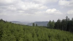 Owl Mountains The Witcher i Polen Arkivbilder