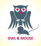 OWL & MOUSE Stock Image