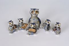 Owl musical band. Royalty Free Stock Photos