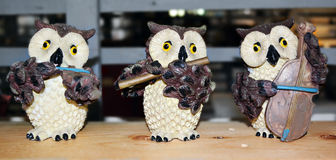 Owl musical. Royalty Free Stock Images