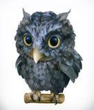 owl Nattfågel roligt djur gears symbolen vektor illustrationer