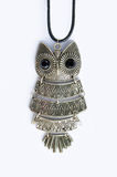 Owl Necklace Royalty-vrije Stock Fotografie