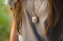 Owl Necklace stock photography