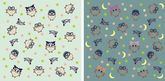 Owl night background Royalty Free Stock Photography