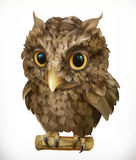 Owl. Night bird. 3d vector icon. Owl. Night bird. Funny animal. 3d vector icon Stock Photography