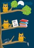 Owl Night_eps Royalty Free Stock Images