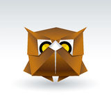 Owl Origami Royalty Free Stock Photo