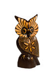 Owl ornament wooden sculpture Royalty Free Stock Photos