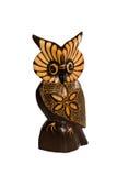 Owl ornament wooden sculpture Royalty Free Stock Photos