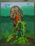Owl på en förgrena sig Fotografering för Bildbyråer