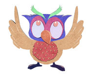 Owl    paper craft stick background Royalty Free Stock Photography