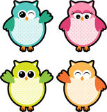 Owl Party Labels Royalty Free Stock Images