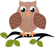 Owl pattern Stock Image