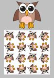 Owl pattern Royalty Free Stock Photo