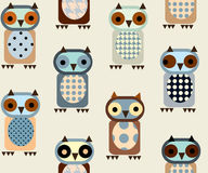 Owl pattern. Seamless background pattern. Will tile endlessly. Children's pattern Owl Stock Photography