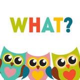Owl Pattern Background mignon avec l'endroit pour votre vecteur Illu des textes Photos stock