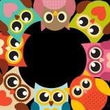 Owl Pattern Background sveglio con il posto per il vostro vettore Illu del testo illustrazione di stock