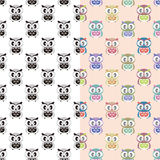 Owl pattern Stock Photography