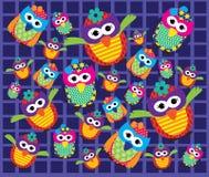 Owl Pattern Vector Imagenes de archivo