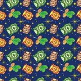 Owl pattern Stock Photos