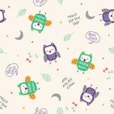 Owl Pattern Vector stock illustratie