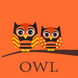 Owl pattern, wallpaper Royalty Free Stock Image