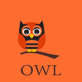 Owl pattern, wallpaper Royalty Free Stock Photo