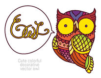 Owl in patterns Stock Images