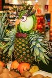 Owl in pineapple Stock Image