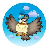 Owl postman on sky Stock Image