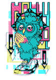 Owl Prayer illustration libre de droits