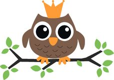 Owl prince princess Royalty Free Stock Images