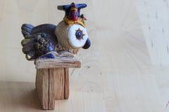 The owl professor royalty free stock image