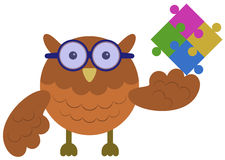 Owl puzzle Royalty Free Stock Images