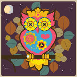 Owl queen. In the wood  illustration Royalty Free Stock Photos
