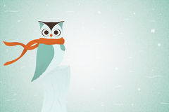 Owl In Red Neckerchief. Vektor Arkivfoto