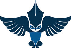 Owl reporter logo Royalty Free Stock Photos