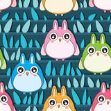 Owl Row Seamless Pattern Royalty Free Stock Photos