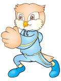 Owl run Stock Image