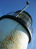 Owl's Head Lighhouse. Detail of Owl's Head Lighthouse, Rockland Harbor, ME Royalty Free Stock Photos