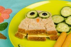 Owl sandwich Stock Image