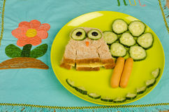 Owl sandwich Royalty Free Stock Images