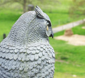 Owl sculpture Stock Images