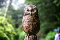Owl sculpture Stock Photography