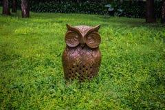 Owl Sculpture fotografia de stock royalty free