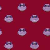 Owl. Seamless Stock Photos