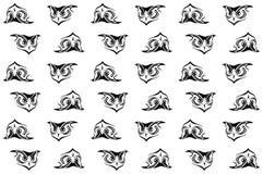 Owl seamless background Stock Photo