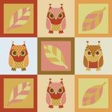 Owl seamless background Royalty Free Stock Photo