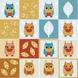 Owl Seamless Backgrounds Royalty Free Stock Images