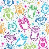 Owl seamless pattern royalty free illustration